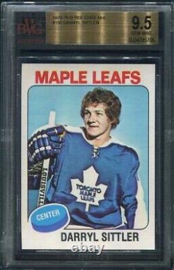 1975/76 OPC Darryl Sittler #150 BGS 9.5 Gem Mint BVG Toronto Maple Leafs