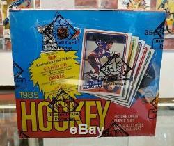 1984/85 OPC O-Pee-Chee Hockey Card Wax Box (48 Packs) BBCE Yzerman RC PSA 10