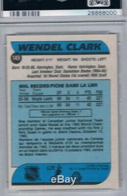 1986-87 O-Pee-Chee #149 Wendel Clark RC PSA 9