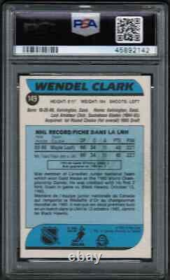 1986 87 OPC O-Pee-Chee #149 Wendel Clark Rookie RC PSA 8 NM-MT (ST)