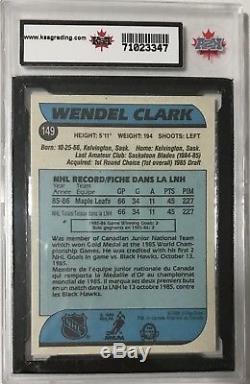 1986-87 Wendel Clark OPC Rookie Card Toronto Maple Leafs KSA GEM MINT 10