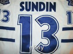 1998 99 NIKE Mats Sundin 13 Toronto Maple Leafs Jersey MLG Memories & Dreams 56