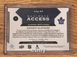 #2/619-20 UltimateAUSTON MATTHEWS Ultimate Access AUTO PATCH 2/6