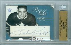 2002-03 Bap Busher Jackson 1/1 Auto Hof Paper Cuts Ultimate 3rd Edition Leafs
