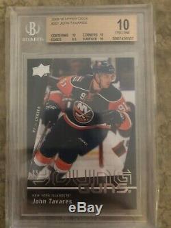 2009-10 Upper Deck John Tavares Young Guns Rc Rookie #201 Bgs 10 Pristine Leafs