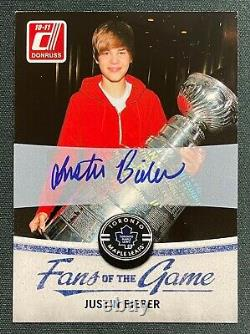 2010-11 Panini Donruss Fans of the Game Justin Bieber AUTO Maple Leafs READ