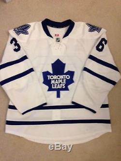 2013-14 Carl Gunnarsson Toronto Maple Leafs Game Used Worn Jersey Real Sports