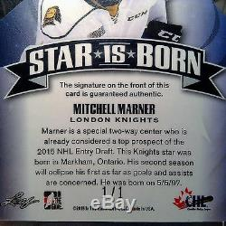 2014-15 Mitch Marner Leaf Metal A Star Is Born Autograph Refractor # 1/1