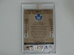 2014-15 Ud Premier Hockey P. Kessel Mega Patch Card 11/18 Chest Logo