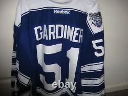 2014 Winter Classic Jake Gardiner Game Worn Period 1 Toronto Maple Leafs Jersey