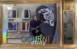 2015-16 Felix Potvin 1/1 Leaf Ultimate Hockey Ultimate Journey Jersey One of One