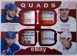 2015-16 The Cup Quads Jerseys Red Tags #/2 John Tavares Rick Nash Zuccarello Lee