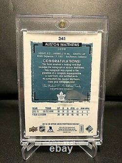 2015-16 UD Portfolio Hockey Rookie Phenom Auto Blue Auston Mathews