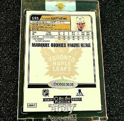 2016-17 Auston Matthews Auto 1/1 Platinum Rc Marquee Rookies Upper Deck Buybacks