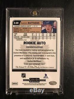2016-17 Auston Matthews Opc Platinum Rookie Auto! Mint! Rare