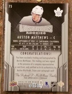 2016-17 Auston Matthews UD Black RC /99 Auto
