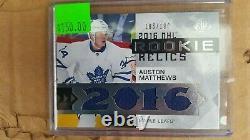2016-17 Auston MatthewsToronto Maple Leafs NHL Card SP ROOKIE RELICS 186/199