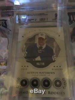 2016-17 Black Diamond Auston Matthews Quad Diamond 90/99 Toronto Maple Leafs