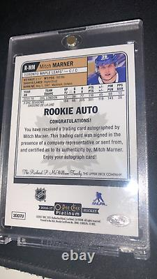 2016-17 O-Pee-Chee OPC Platinum Rookie Auto #R-MM Mitch Marner Maple Leafs rc