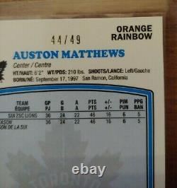 2016-17 O-Pee-Chee Platinum Retro Rainbow Orange #R66 Auston Matthews #'d 44/49