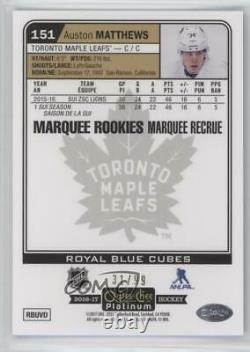 2016-17 O-Pee-Chee Platinum Royal Blue Cubes /99 Auston Matthews #151 Rookie