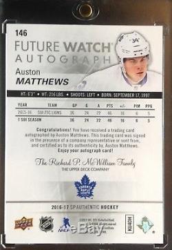 2016-17 SP Authentic Auston Matthews Future Watch Rookie Auto Maple Leafs /999