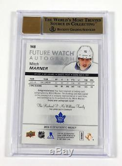 2016-17 SP Authentic Mitch Marner Rookie Future Watch Auto #148 BGS 9.5 /999