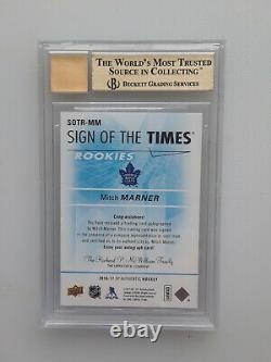 2016-17 SP Authentic Sign Of The Times Auto 027/199 Mitch Marner BGS 9.5