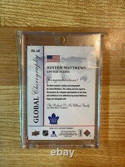 2016-17 Sp Authentic Auston Matthews Global Chirography Auto Rookie Maple Leafs