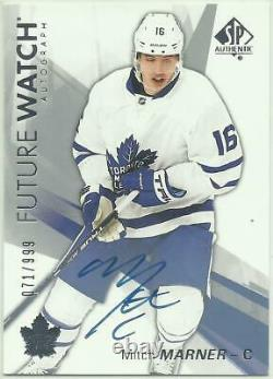 2016-17 Sp Authentic Mitch Marner Rc Fw Rookie Future Watch Autograph #148 #/999