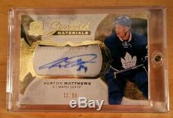 2016-17 The Cup Hockey Scripted Materials Auston Matthews Rookie Auto 32/35 MINT