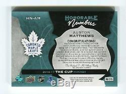 2016-17 The Cup Honorable Numbers #HNAM Auston Matthews 20/34 RC