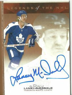2016-17 The Cup Legends of the NHL Signatures Booklet TORONTO MAPLE LEAFS 5/9