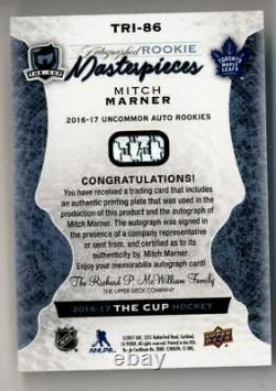 2016-17 The Cup Printing Plate Rookie Magenta #TRI86 Mitch Marner Auto 1/1