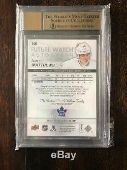 2016-17 UD SP Authentic Auston Matthews FW Inscription Rookie Auto Bgs 9.5 Leafs