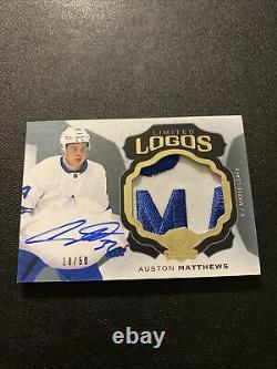 2016-17 UD The Cup Auston Matthews RPA Game Used Logo Patch Autograph RC /50