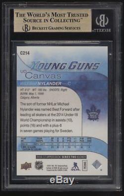 2016-17 UD Young Guns Canvas William Nylander RC Rookie BGS 10 Pristine