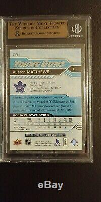 2016-17 Upper Deck #201 Auston Matthews Young Guns RC BGS 9.5 Maple Leafs Rookie