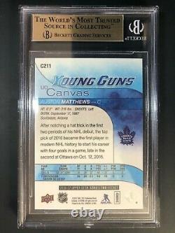 2016-17 Upper Deck Auston Matthews Young Guns Canvas Rookie BGS 9.5 True Gem