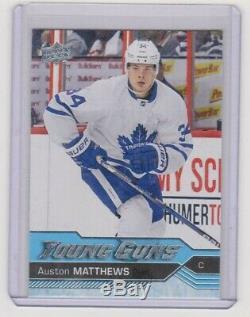 2016-17 Upper Deck Auston Matthews Young Guns RC #201 Leafs Rookie Centered