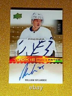 2016-17 Upper Deck Premier William Nylander Rookie Auto Patch Gold /25 Autograph