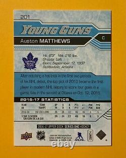 2016-17 Upper Deck Series 2 Auston Matthews Young Guns Rookie #201 Maple Leafs