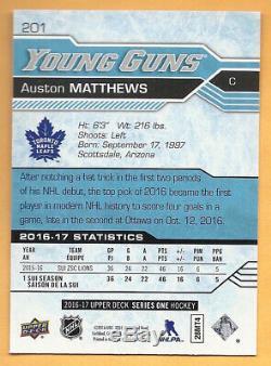 2016-17 Upper Deck Series One Auston Matthews Young Guns Rookie Card Rc #201