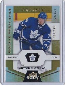 2016-17 Upper Deck Trilogy Auston Matthews Rookie Card RC #51 Mint 960/999 Mint