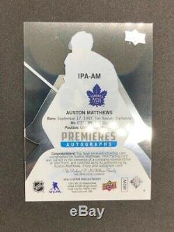 2016-17 Upper Deck UD Ice Premiere Auto Rookie Auston Matthews Leafs BGS /25