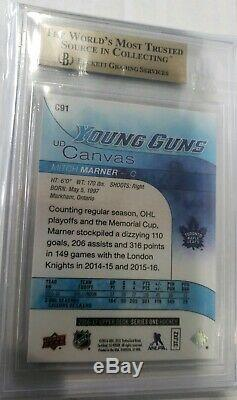 2016/17 Upper Deck Young Guns Canvas Mitch Marner BGS 10 Rookie RC Maple Leafs
