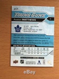 2016-17 Upper Deck Young Guns Rookie 201 Auston Matthews Toronto Maple Leafs