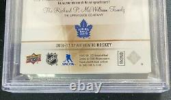 2016 2016-17 Sp Authentic Mitch Marner Future Watch Patch Auto 21/100 Bgs 8.5 Dr