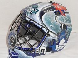 2016 Toronto Maple Leafs Team Signed Goalie Mask Babcock Phaneuf Kadri Lupul