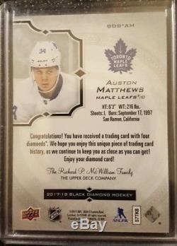 2017-18 Black Diamond Quad Diamond Ssp #1/5 Auston Matthews Toronto Maple Leafs